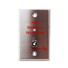 Edwards 6833-1 Fire Fighters Telephone Wall Plate