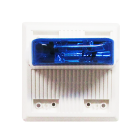 Wheelock MTWPB-24MCCH-NW Weatherproof Blue Strobe (White)