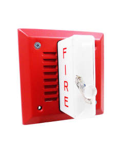FOS 5336L-W-14-24-DC Flush Signal w/ Strobe Red