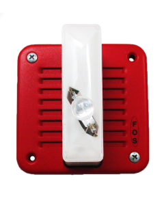 FOS 5337L-W-14-24-DC Surface Signal w/ Strobe Red